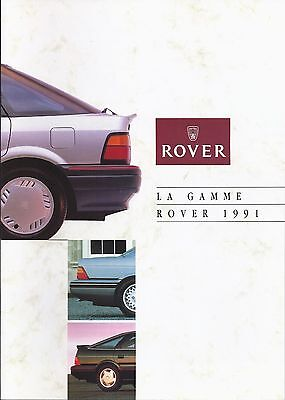 Catalogue ROVER Gamme 1991 - 14 pages - 07/1991