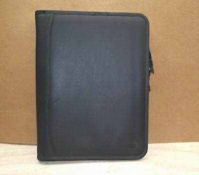A4 Black leather folder  (style 212) with removable 4 ring organiser