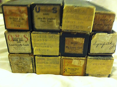 12 Player piano Rolls