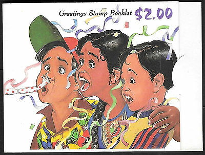 """SINGAPORE 1993 $2.00 """"GREETINGS BOOKLET (20c x 10 - TWO COMPLETE SETS) MNH"""