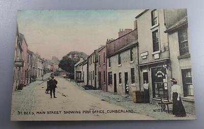 OLD POSTCARD ST BEES POST OFFICE MAIN ST. CUMBERLAND c 1910