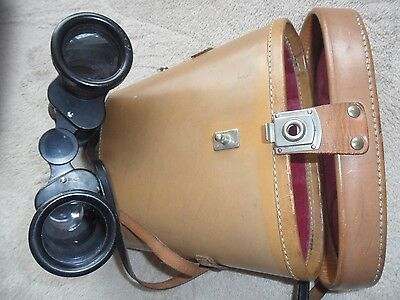 rare 12 x 40 monarch Vintage Kershaw Binoculars and leather case