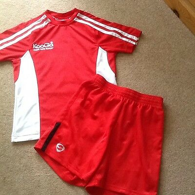 Red Kooga Rugby Shirt Size SMB And Red Nike Shorts Size 10 / 12 Years