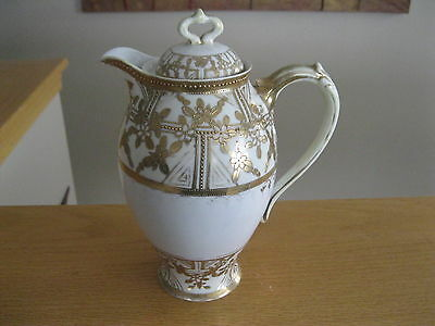 """Vintage Nippon coffee pot 9-1/2"""" tall 7"""" wide including handle"""