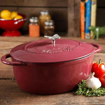The Pioneer Woman 2.83Qt Batter Bowl and 7Qt Dutch Oven w/Butterfly Knob