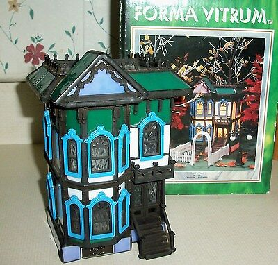"""Forma vitrum Stained Glass """"Mayor's Manor"""" Complete with Box"""