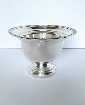 STERLING SILVER Deep Pedestal Bowl Fine Gadroon Edge WHITING SILVER - 148g