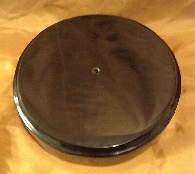 Black Stone 8 inches Round Base for Sculpture/Figure