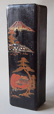 Early 20th century Japanese Meiji Period Ladies Lacquered Glove Box