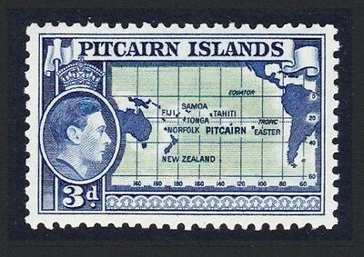 Pitcairn George VI 3d Map of Pacific 1v SG#5 SC#5