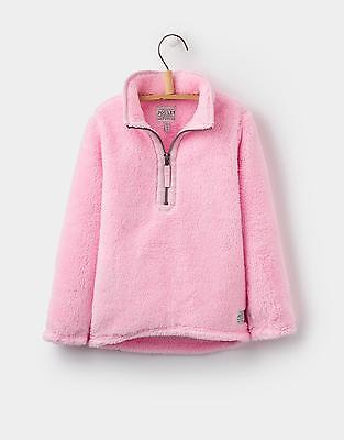 Joules Girls Merridie Fleece Jacket with Trims Ultra Light & Soft in Rose Pink