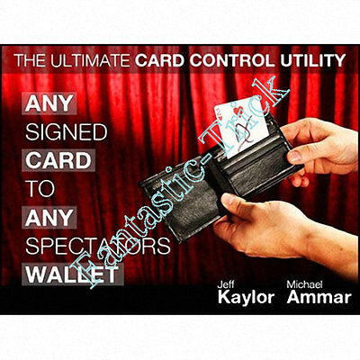 Any Signed Card To Any Spectator's Wallet  - Magic Trick,Card Magic