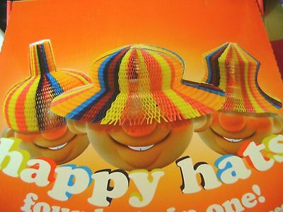 New Happy Hat Clever Paper Make Your Own Silly Hats! 4 Possible Designs Hom