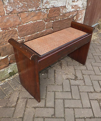 Antique DUET Double PIANO STOOL Mahogany OPEN TOP Sheet MUSIC Storage SEAT Bench
