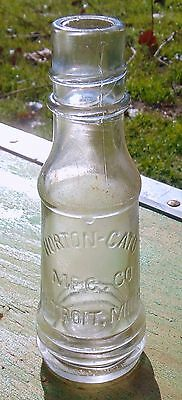 "Horton-Cato Mfg. Co. Detroit Mich. Michigan 5 5/8"" Tall Vintage Sauce Bottle"