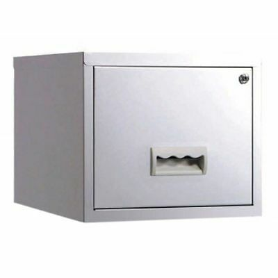 1 DRAWER 'PIERRE HENRY' STEEL FILING CABINET / SILVER / A4 /  NEW + FREE DEL 24h