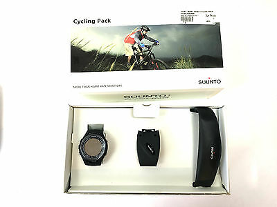 Suunto T3 Watch Black with Cycling kit/ Hear Rate strap, Speed Sensor, Bar Mount