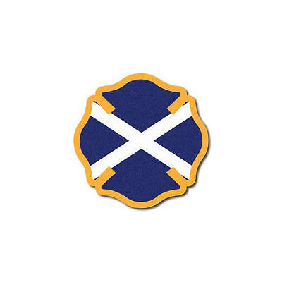 3M Reflective Fire Helmet Decal - Scotland Flag Maltese