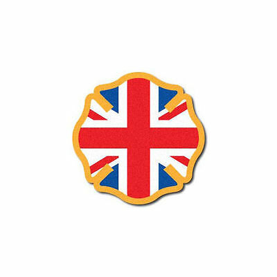 3M Reflective Fire Helmet Decal - United Kingdom Flag Maltese
