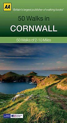 50 Walks in Cornwall by AA Publishing (Paperback) New Book