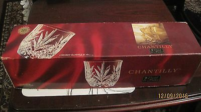 chantilly crystal whiskey glasses