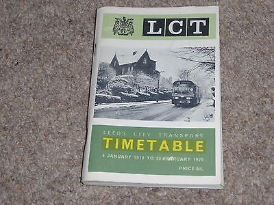 Leedc City Transport (LCT) Bus Timetable 4 Jan 1970 to 28 Feb 1970