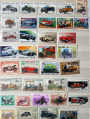 A Fine Collection Of Stamps Showing Cars, Car Thematics.