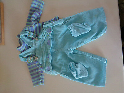 American Girl Bitty Baby Twin #89 Retired Corduroy Play Outfit Overalls