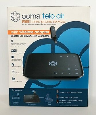 Ooma Telo Air System with Wireless Adapter - EUC