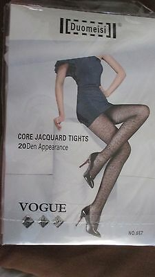 2 X Duomeisi Vogue Core Jacquard Patterned Tights