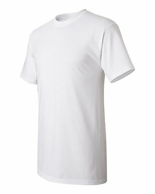 100 White T-shirt Blank Bulk Lot Plain T shirt Men's S-XL Cheap