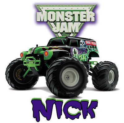 Grave Digger Monster Truck JAM SHOW Personalized Custom T Shirt BIRTHDAY GIFT