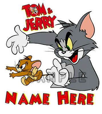 Tom and Jerry Personalized Birthday T shirt Gift Tee present add name