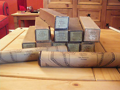 Set Of 10 Themodist Vintage Pianola Music Rolls In Really Good Condition