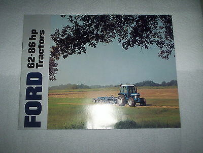 Ford 5610 6610 6710 7610 7710 Farm Tractor Color Sales Brochure 62 to 82 HP