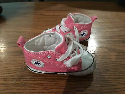 Baby Girl Converse Soft Shoes Size 3
