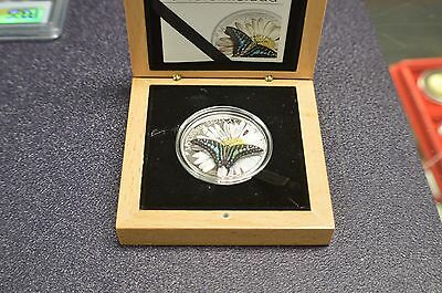 2015 butterflies in 3-d .925 sterling silver coin  mariposas exoticas