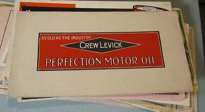 Vintage 1920's Crew Levick Perfection Motor Oil Advertising Ink Blotter Auto Car