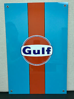 Gulf racing advertising sign oil gas porsche ford