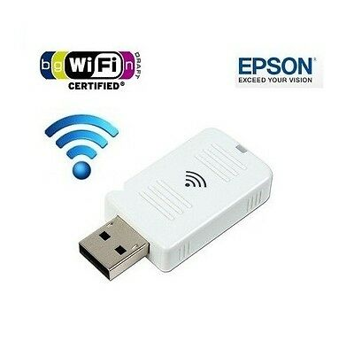 NEW official EPSON projector WIRELESS WIFI USB LAN ADAPTER ELPAP07 V12H418P12