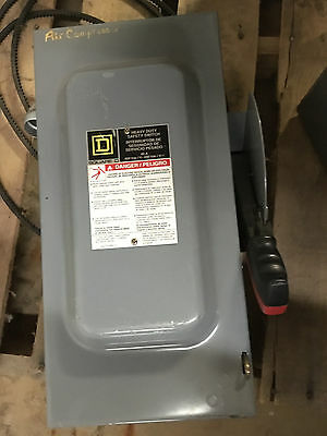 Square D H362 60A/600V safety switch/disconnect 30HP