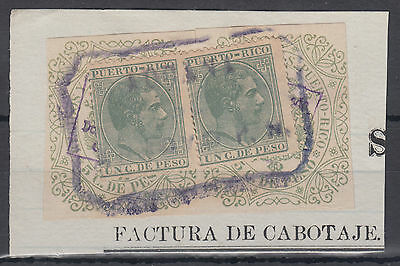 Puerto Rico Fiscals on PIECE; see both scans; Ref: 5
