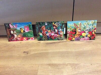 Vintage TOPPAN Foreign 3D Post Cards Collectable Kistch 50's/60's