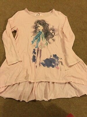 Girls Pink Next Long Sleeved Top Age 4 years