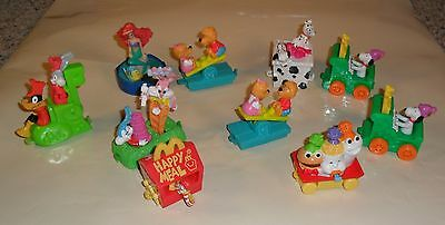 Mcdonald's Happy Meal Toy - 1994 - Birthday Train - Lot Of 10 Loose Pieces