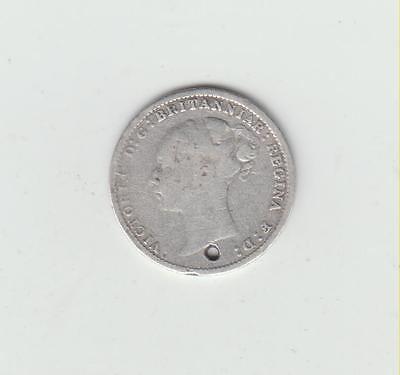 1887 Victoria Young Head Silver (.925) 3d, Holed, Suitable For Jewellery