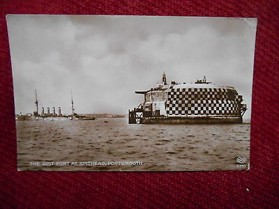 Vintage Post Card Of The Spit Fort At Spithead Portsmouth 1903