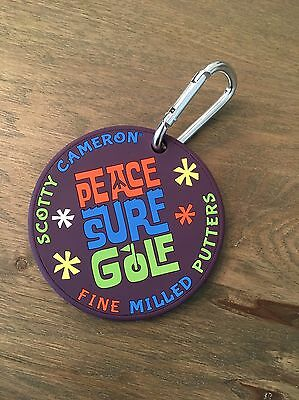 Scotty Cameron Peace Surf Golf, Purple Bag Tag, Putting Disk Or Coaster! New