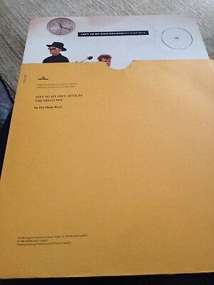 "Pet Shop Boys Left To My Own Devices 12"" Disco Mix P/s With Inner Sleeve Uk"