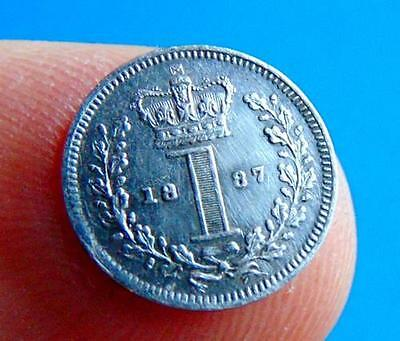 GOOD  VERY  FINE  1887  SILVER  MAUNDY  PENNY  1d...from  LUCIDO_8  COINS